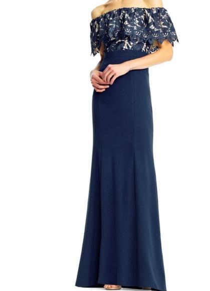 Aidan Mattox Dresses & Skirts - NWT off the shoulder mermaid gown
